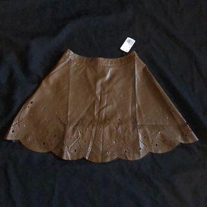 Vegan leather skaters short skirt